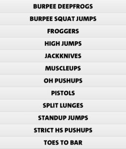 Freeletics strength exercises