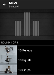 Krios Freeletics Workout - Standard