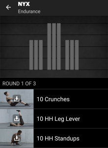NYX Freeletics Workout - Endurance