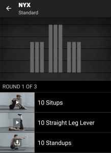 NYX Freeletics Workout - Standard