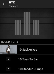 NYX Freeletics Workout - Strength