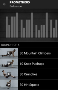 Prometheus - Freeletics Training - End